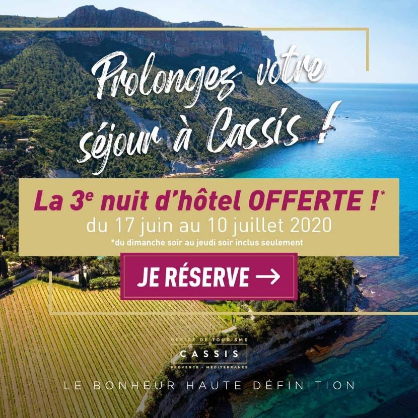 Vacances A Cassis Pour Tout Sejour De 2 Nuits Consecutives Avant
