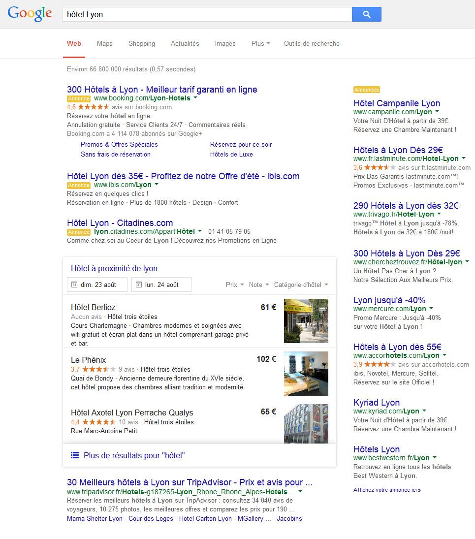 Ca bouge chez google euh non a fait seulement for Site web pour hotel